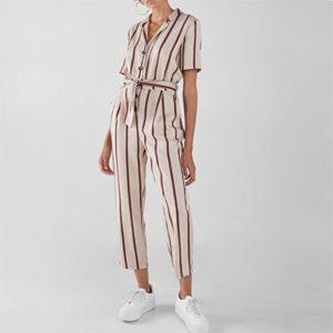 S'habiller en combinaison longue rayée