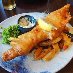 Manger du fish and chips