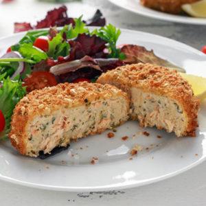 Déguster des fish cakes au saumon et épinard