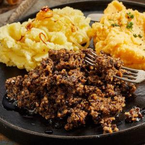 Plat de haggis et purée de pommes de terre