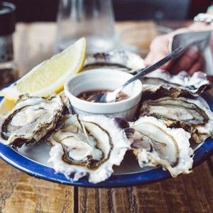 Des huîtres fraiches