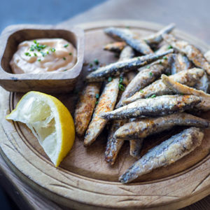 De la friture de petits poissons ou whitebait