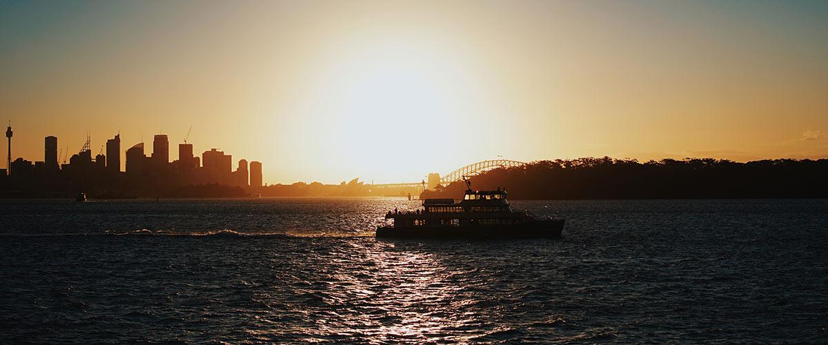 Les couchers de soleil à Sydney