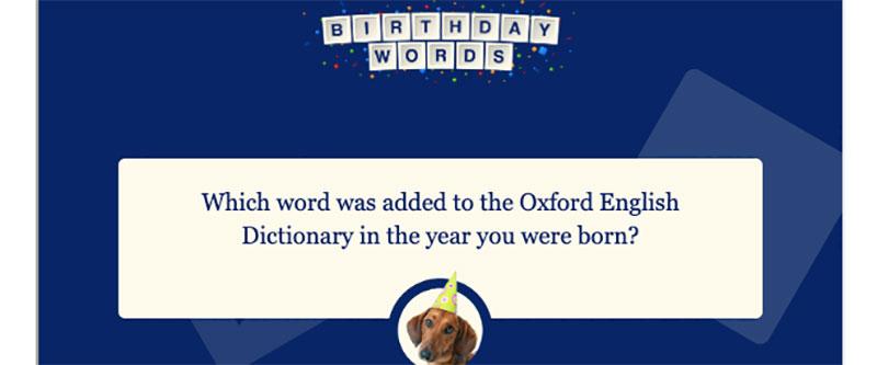 Birthday Word Generator
