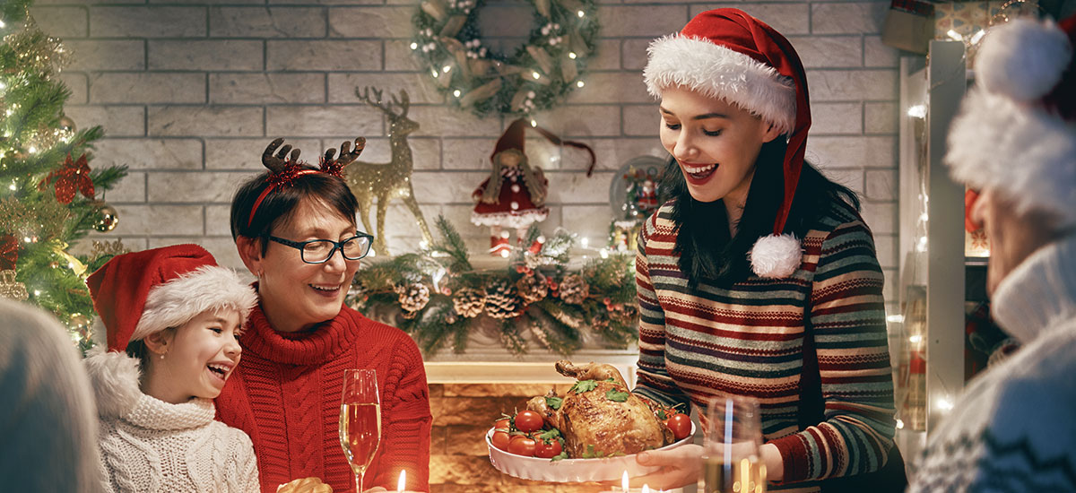 Fêter Noël en anglais autour d'un bon repas