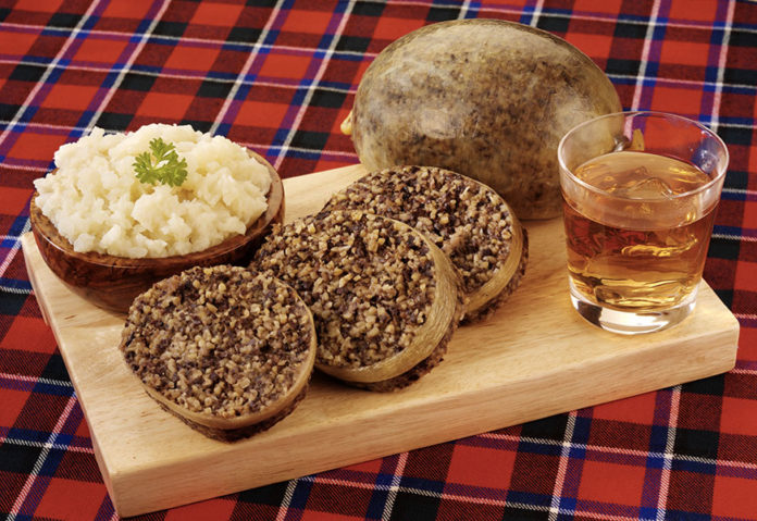 Haggis plat écossais typique