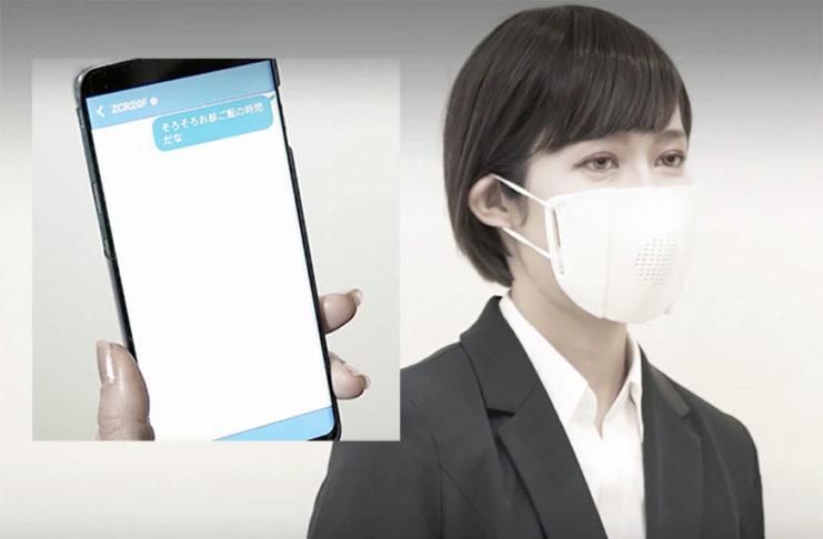 masque anti covid-19 ou C-Face Smart Mask via Bluetooth