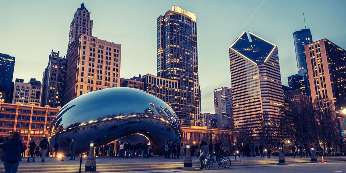 The Bean ou Cloud Gate à Chicago